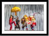 Barong dance at waterfall 3