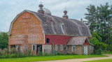 An Orange and Red Barn