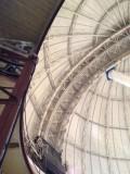 Dome rolls on train wheels