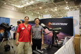 Michael from Astronomy Magazine visiting Brian at Celestron