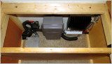 Boxed off area for controller, switch & fuses