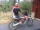 Randy and his new KTM 690