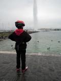 The Lake Geneva fountain