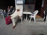 Here's the drunken man in the wool suit again