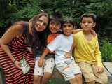 With friends Pami, Viraj, and Vansh