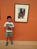 At the John Singer Sargean watercolor exhibition at the Brooklyn Museum of Art