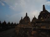 Rainbow above Borobudur