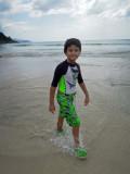 Happy Thailand beachcomber