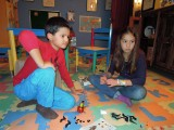 Lego building with friend Ayaka
