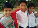 With friends Hanif and Imran
