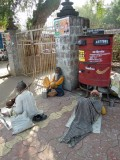 Scene at the Khajuraho western temple complex ticket booth