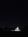 Khajuraho temple at night