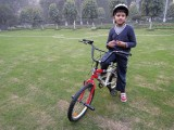Riding in the local park