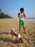 Kerala beach with friend
