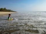 Kerala beach yoga