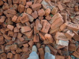 Discarded bricks from our Dehradun house, India (2014)