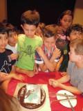 Minecraft-themed birthday cake