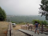 First time down the new Dehradun steps