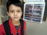 Art poster featuring Rahil's creation