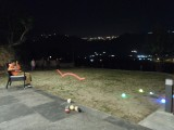 Nighttime bocce (with lighted balls)