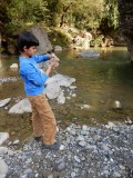 Collecting river water -- because he could