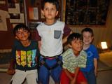 With best pals Aditya, Sachin, and Charlie