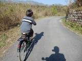 Local biking.   Not many flat stretches . . .