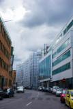Dark skies and buildings in cover