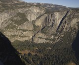 View towards Yosemite falls from Glacier Point