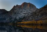 Sunrise on Carson Peak, and Silver Lake