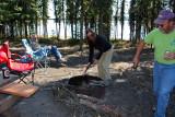 Great camp at Deadman Lake, Alaska