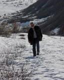 Snowed in road to glacier