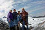 Carol, Bob, Mary Helen, Steve, Matanuska Glacier
