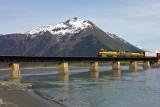 Alaska train near Portage