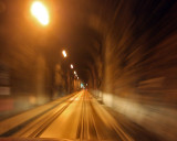 The tunnel to Whittier - you drive on the train tracks!