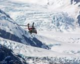 Coast Guard helicopter at Portage Glacier