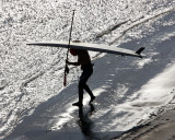 Surfer in Turnagain Arm