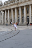 Ballet Dancer in front of the Grand Theater