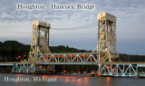 Houghton - Hancock bridge at dusk