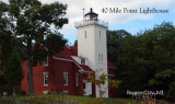 40 Mile Point Lighthouse fall