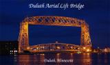 Duluth Ariel Lift Bridge night