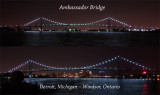 Ambassador Bridge night