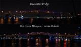 Bluewater Bridge night