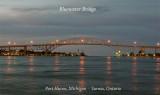 Bluewater Bridge dusk