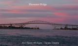 Blue Water Bridge Sunset