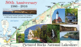 Pictured Rocks National Lakeshore 50 Anniversary map