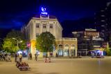 Evening in Peja's main square