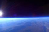 Sunrise over Delta Utah, 90,000 ft