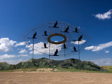 Flying Geese on The Enchanted Highway ND