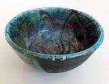 Turquoise Bowl Raku firing